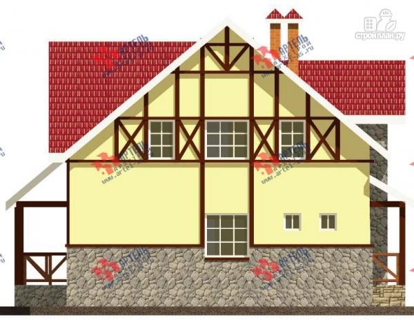 Фото 7: проект дом из блоков с двумя балконами