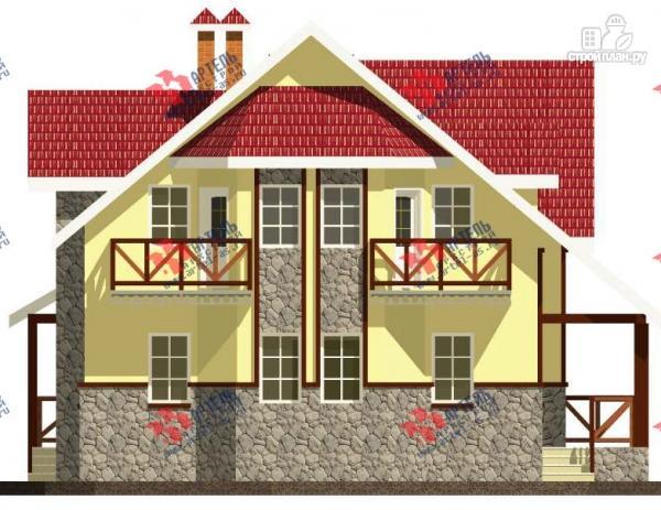 Фото 5: проект дом из блоков с двумя балконами