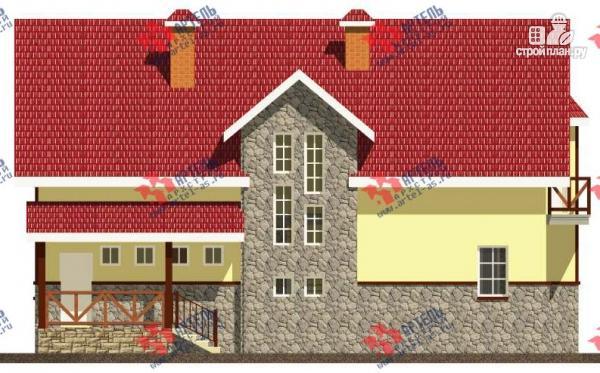 Фото 6: проект дом из блоков с двумя балконами
