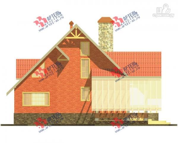 Фото 8: проект трехэтажный дом из газосиликатных блоков с большой верандой