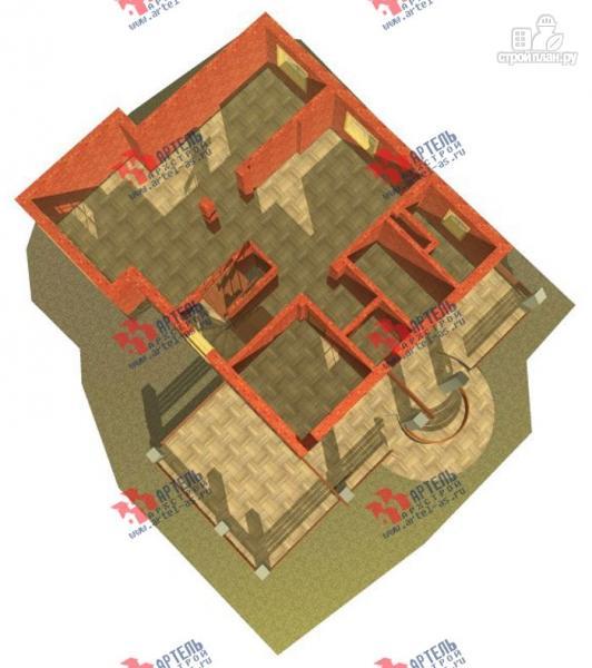 Фото 3: проект трехэтажный дом из газосиликатных блоков с большой верандой