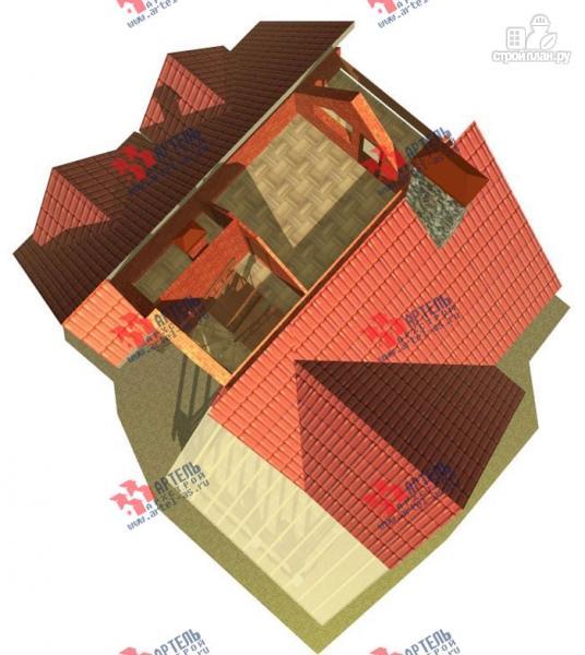 Фото 5: проект трехэтажный дом из газосиликатных блоков с большой верандой