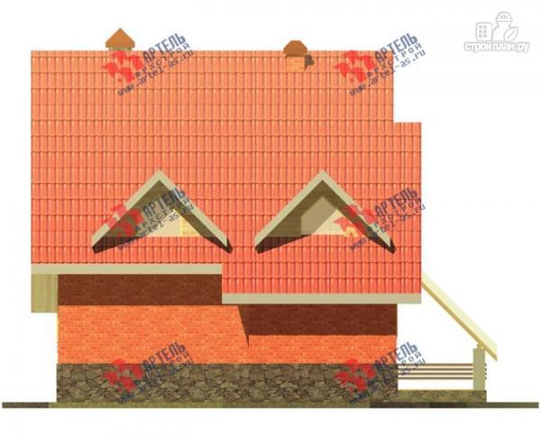 Фото 9: проект трехэтажный дом из газосиликатных блоков с большой верандой