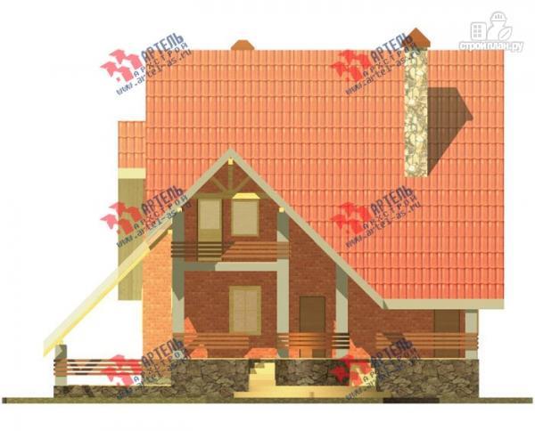 Фото 6: проект трехэтажный дом из газосиликатных блоков с большой верандой