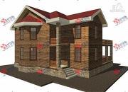 Проект двухэтажный дом с навесом для машины