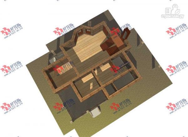 Фото 6: проект двухэтажный дом с навесом для машины