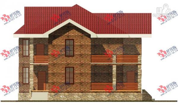 Фото 3: проект двухэтажный дом с навесом для машины