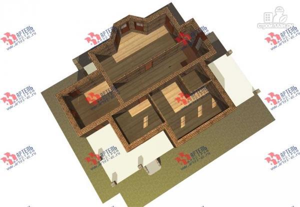 Фото 7: проект двухэтажный дом с навесом для машины