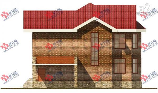Фото 5: проект двухэтажный дом с навесом для машины