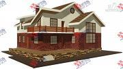 Проект дом с террасой, балконом и вторым светом в гостиной