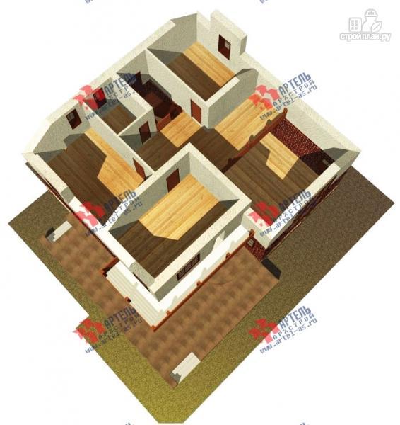Фото 7: проект дом с террасой, балконом и вторым светом в гостиной
