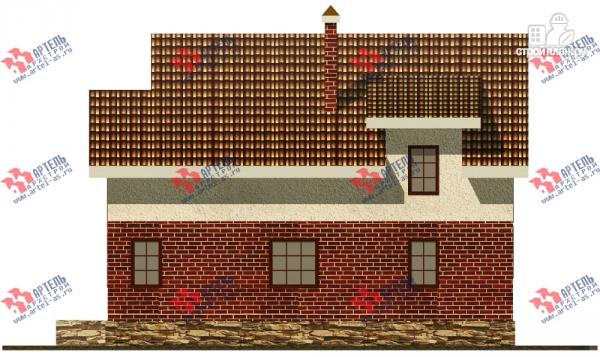 Фото 5: проект дом с террасой, балконом и вторым светом в гостиной