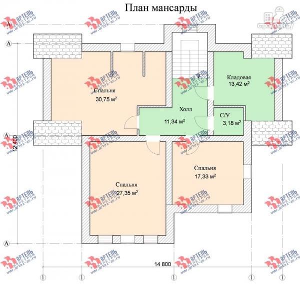 Фото 10: проект трехэтажный дом с сауной из газосиликатных блоков