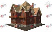 Проект трехэтажный дом с сауной из газосиликатных блоков