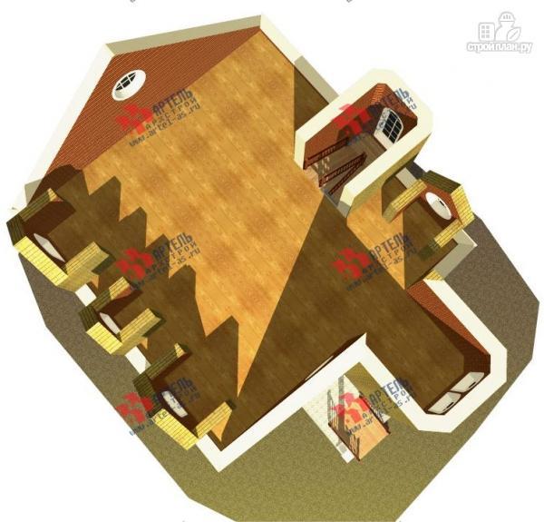 Фото 8: проект дом из газосиликатных блоков с детскими комнатами и игровой