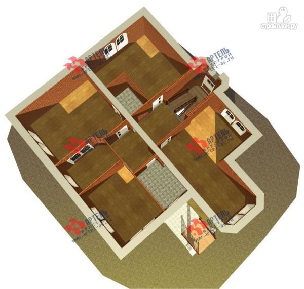 Фото 7: проект дом из газосиликатных блоков с детскими комнатами и игровой