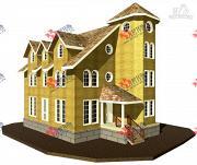 Фото: дом из газосиликатных блоков с детскими комнатами и игровой