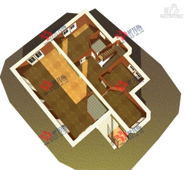 Фото 6: проект дом из газосиликатных блоков с детскими комнатами и игровой