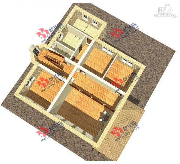 Фото 3: проект дом из газосиликатных блоков со вторым светом в гостиной и игровой в мансарде