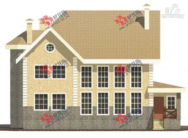 Фото 6: проект дом из газосиликатных блоков со вторым светом в гостиной и игровой в мансарде