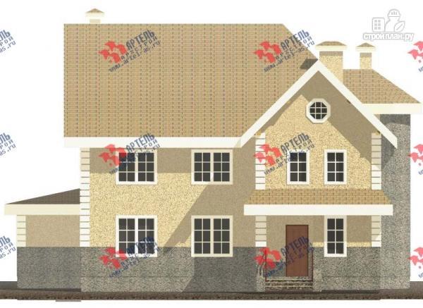 Фото 8: проект дом из газосиликатных блоков со вторым светом в гостиной и игровой в мансарде