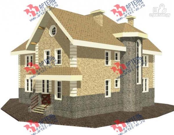 Фото: проект дом из газосиликатных блоков со вторым светом в гостиной и игровой в мансарде