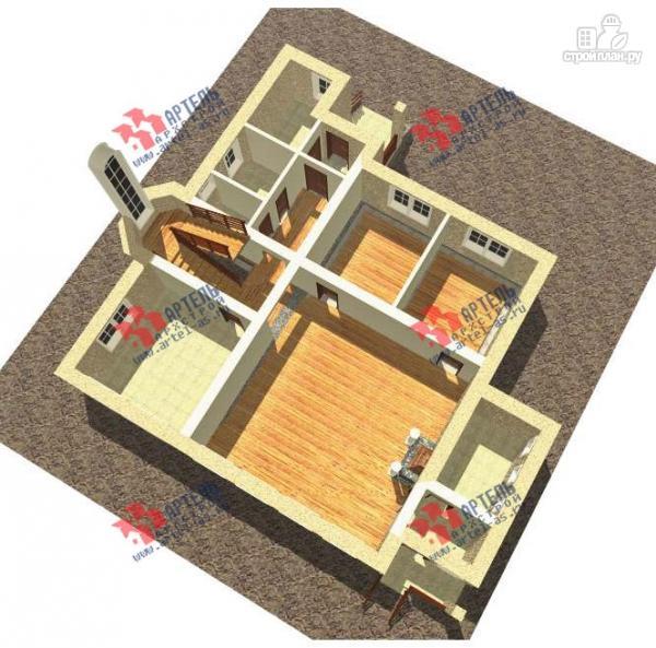 Фото 2: проект дом из газосиликатных блоков со вторым светом в гостиной и игровой в мансарде