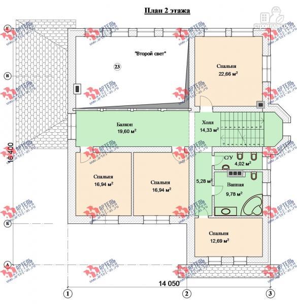 Фото 10: проект дом из газосиликатных блоков со вторым светом в гостиной и игровой в мансарде