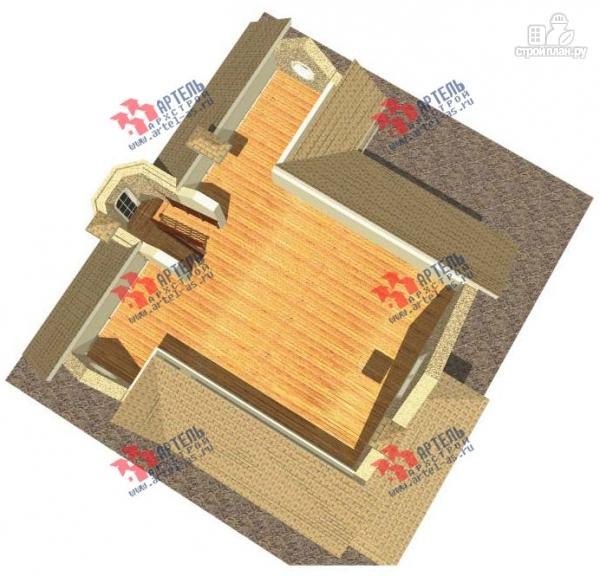 Фото 4: проект дом из газосиликатных блоков со вторым светом в гостиной и игровой в мансарде