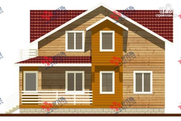 Фото 4: проект дом каркасный с крыльцом, верандой и балконом