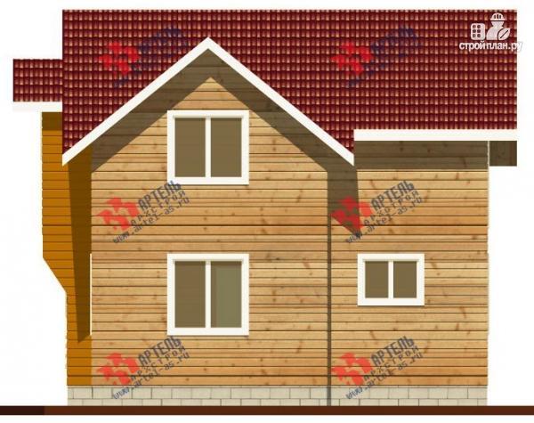 Фото 6: проект дом каркасный с крыльцом, верандой и балконом