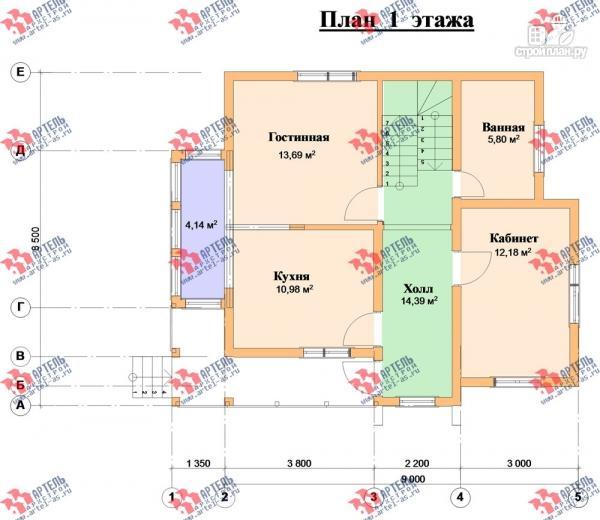 Фото 8: проект дом каркасный с крыльцом, верандой и балконом