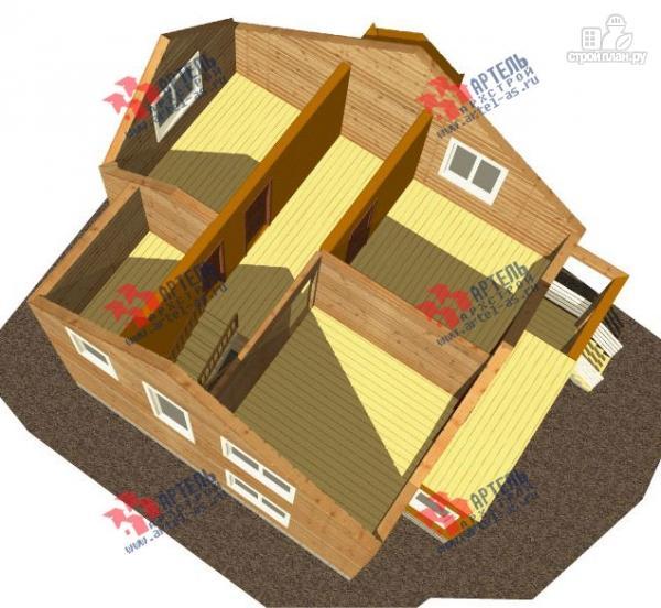 Фото 3: проект дом каркасный с крыльцом, верандой и балконом