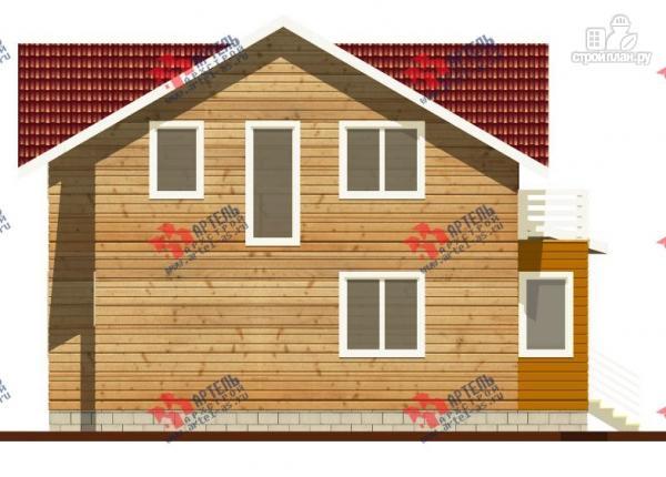 Фото 5: проект дом каркасный с крыльцом, верандой и балконом