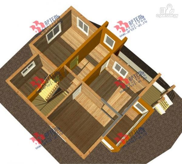 Фото 2: проект дом каркасный с крыльцом, верандой и балконом