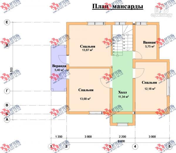 Фото 9: проект дом каркасный с крыльцом, верандой и балконом