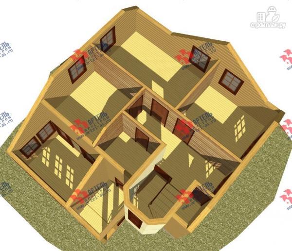 Фото 3: проект дом каркасный с эркером и верандой