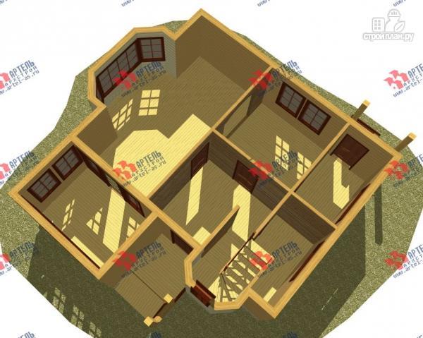 Фото 2: проект дом каркасный с эркером и верандой