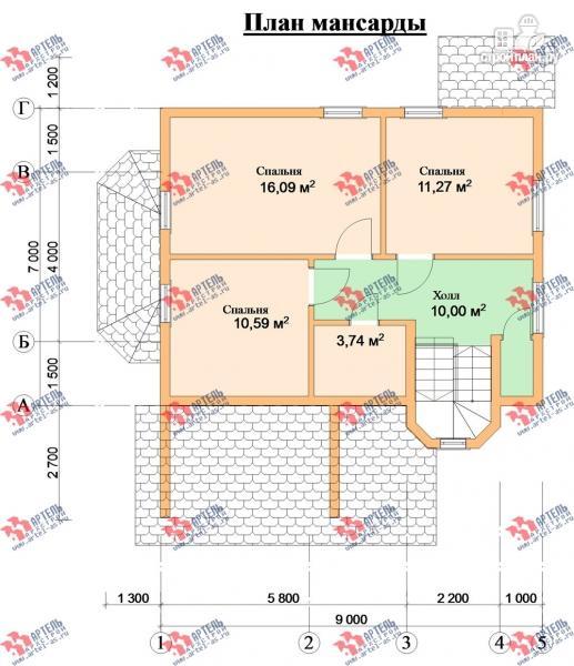 Фото 9: проект дом каркасный с эркером и верандой
