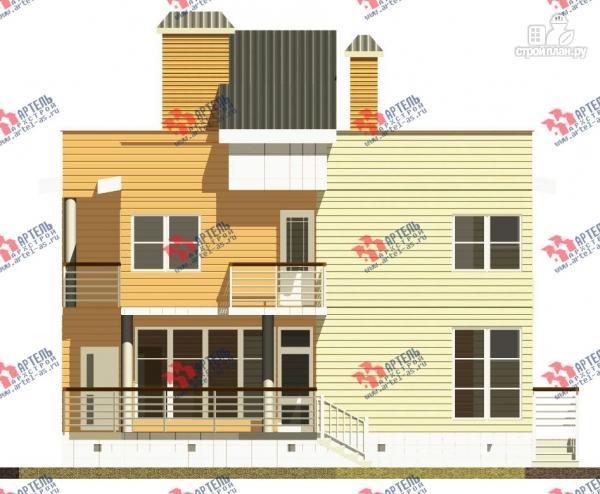 Фото 5: проект двухэтажный каркасный дом с террасой