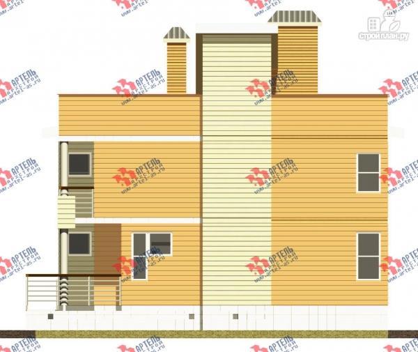Фото 6: проект двухэтажный каркасный дом с террасой