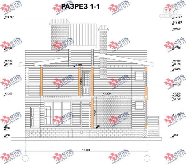 Фото 10: проект двухэтажный каркасный дом с террасой
