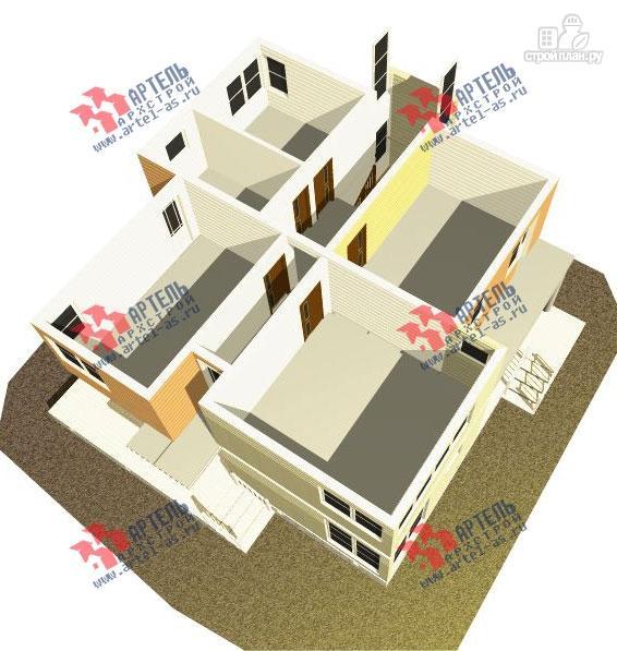 Фото 3: проект двухэтажный каркасный дом с террасой