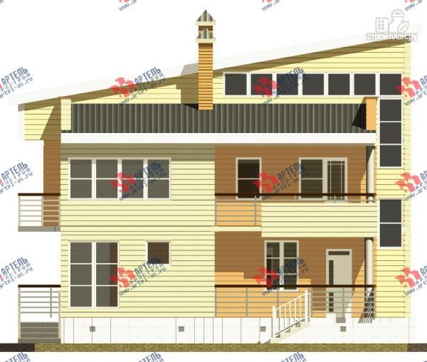 Фото 4: проект двухэтажный каркасный дом с террасой