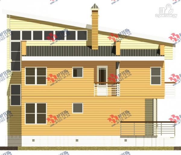 Фото 7: проект двухэтажный каркасный дом с террасой