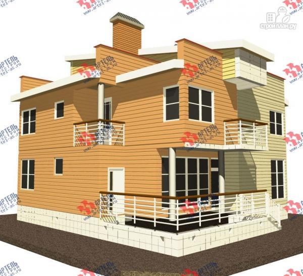 Фото: проект двухэтажный каркасный дом с террасой