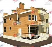 Фото: двухэтажный каркасный дом с террасой