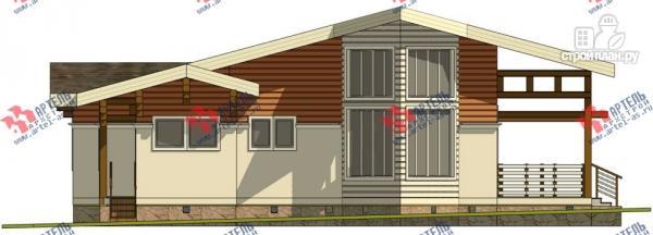 Фото 3: проект одноэтажный каркасный дом с большой террасой
