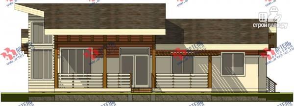 Фото 6: проект одноэтажный каркасный дом с большой террасой