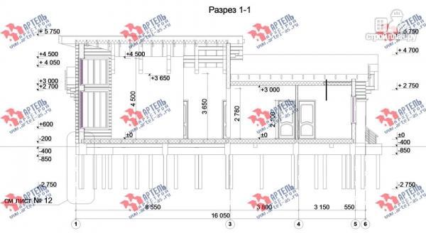 Фото 8: проект одноэтажный каркасный дом с большой террасой